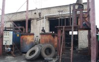 Preparation of rubber for loading into the crucible for recycling in the pyrolysis unit Pirotex