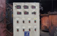 Control cabinet of the closed pyrolysis unit Pirotex