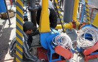 Assembling of the process parts of the equipment