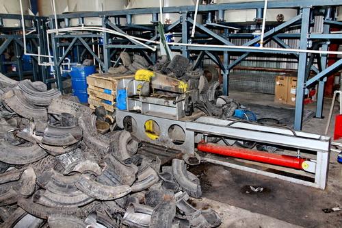 Technokomplex recycling and utilization of scrap tires for Scrap tractor tires